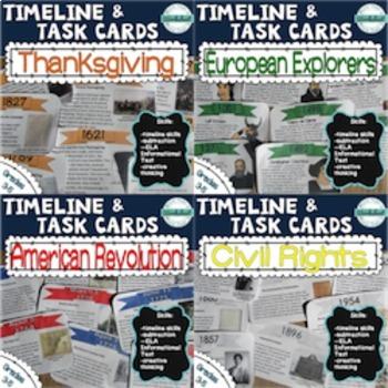 Timeline Task Card Bundle