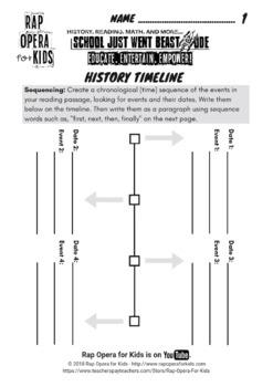 Blank Timeline Template Worksheet Graphic Organizer Freebees Printables Reading