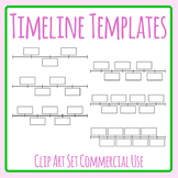 Timeline Templates with Blank Rectangles Clip Art Commercial Use