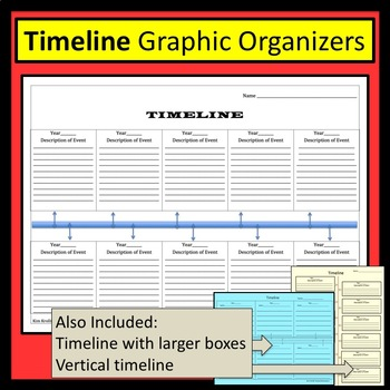Timeline/ Time Line- Blank and Ready to Fill In