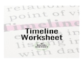 Timeline Worksheet
