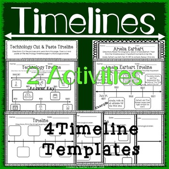 Amelia Earhart Timeline Activity & Worksheets | Teachers Pay