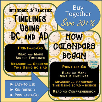 Timeline and Calendar Bundle~ Print-and-Go