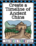 Timeline of Ancient China Activity / Project - Dynasties &