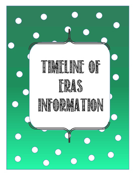 Timeline of Eras Information