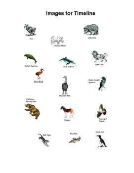 Timeline of Extinct Species