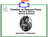 Black History Month - Famous Firsts in Women's History Timeline