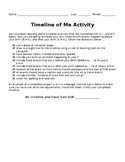Timeline of Me Personal History Assignment