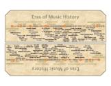 Timeline of Musical Eras