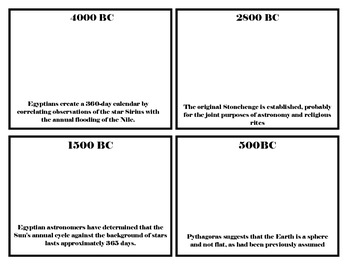 Timeline of Space Exploration cards to illustrate and post!