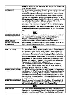 Timeline of the Cold War