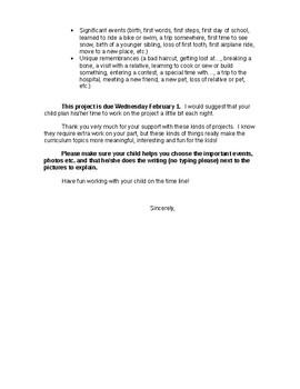 Timeline parent letter