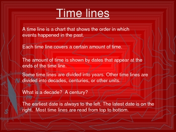 Timeline practice Power Point Lesson