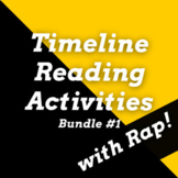Timeline Worksheets and Timeline Passages with Questions Using History Songs