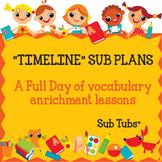 Vocabulary Sub Plans: Sub Tubs® Timeline Lesson Plan/Grade 5