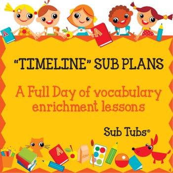 Vocabulary Sub Plans: Sub Tubs® Timeline Lesson Plan/Grade