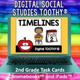 Timelines Digital Social Studies Toothy® Task Cards | Digi