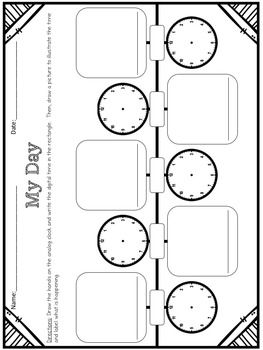 Timelines, Digital and Analog Clocks