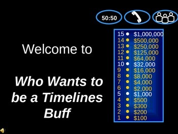 Timelines Millionaire Game