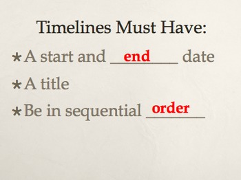 timelines ppt by miss rowe your boat teachers pay teachers