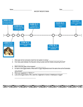 parallel timelines worksheet