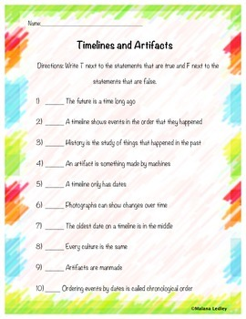 Timelines and Artifacts Assessment