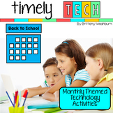 Timely Tech - 22 Back to School Themed Computer Lab Lessons