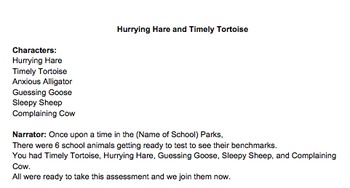 Timely Tortoise and Hurrying Hare Iowa Assessment Play