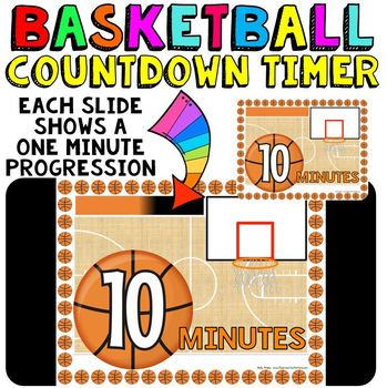 timer countdown 10 minutes or less basketball theme fun for