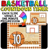 Timer: Countdown 10 Minutes (or less): Basketball Theme: F