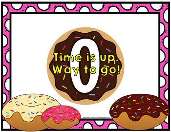 Timer: Countdown 10 Minutes (or less): Donut Theme: Fun for Math Centers