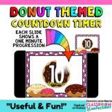 Timer: Countdown 10 Minutes (or less): Donut Theme: Fun fo