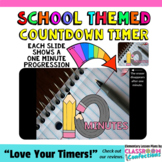 Timer: Countdown 10 Minutes (or less): Pencil Theme for Ba