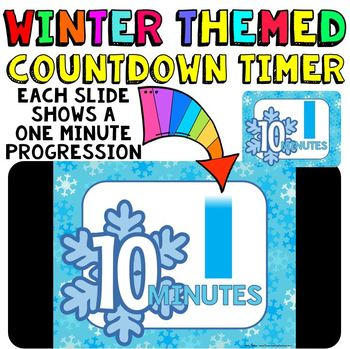Timer: Countdown 10 Minutes (or less): Use with your Winter Activities