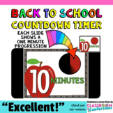 Timer: Countdown 10 Minutes (or less): Apple Theme for Back to School Activities