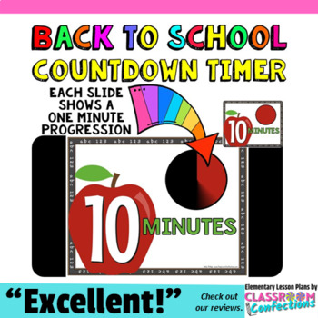timer countdown 10 minutes or less apple theme for back to