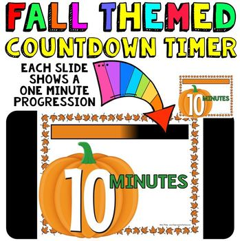 Timer: Countdown 10 Minutes (or less): Pumpkin Theme for Fall Activities