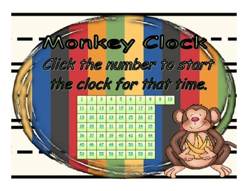 Timer - Monkey Clock - Up to 60 minutes