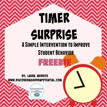 Timer Surprise: Improving Student Behavior