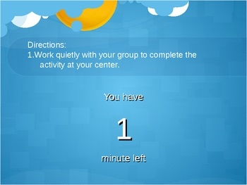 Timer for Centers