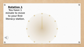 Timer for Literacy Stations (Secondary)