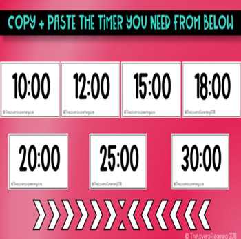 Timers for Centers, Rotations and Displays