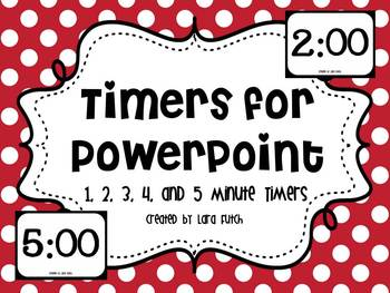Timers for Powerpoint 1-5 Minute Timers