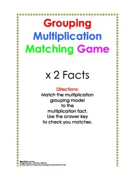 Times 2 Facts Grouping Model Puzzle
