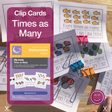 Times As Many Clip Cards