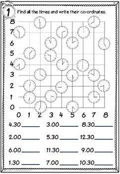 Times Coordinates Worksheets
