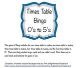 Times Table Bingo - 0 to 5