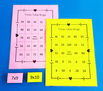 Times Table Bingo - 2 Bingo Sets