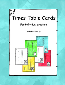 Times Table Cards
