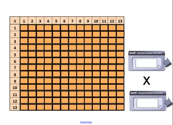 Times Table Challenge with Random Numbers